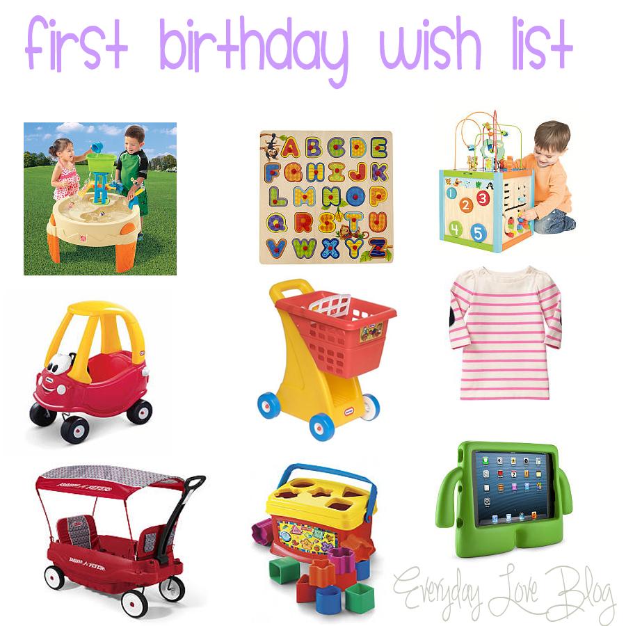 First Birthday Wish List