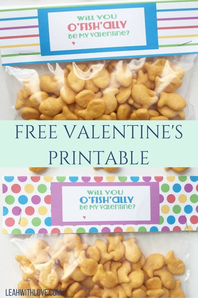 graphic about O Fish Ally Printable named OFISHALLY Be My Valentine- Free of charge Printable - Leah With Take pleasure in