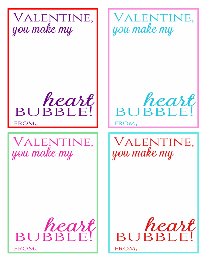 This is a picture of Influential Bubble Valentine Printable