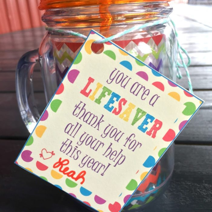 """Lifesaver"" Gift Tag Printable - Leah With Love"