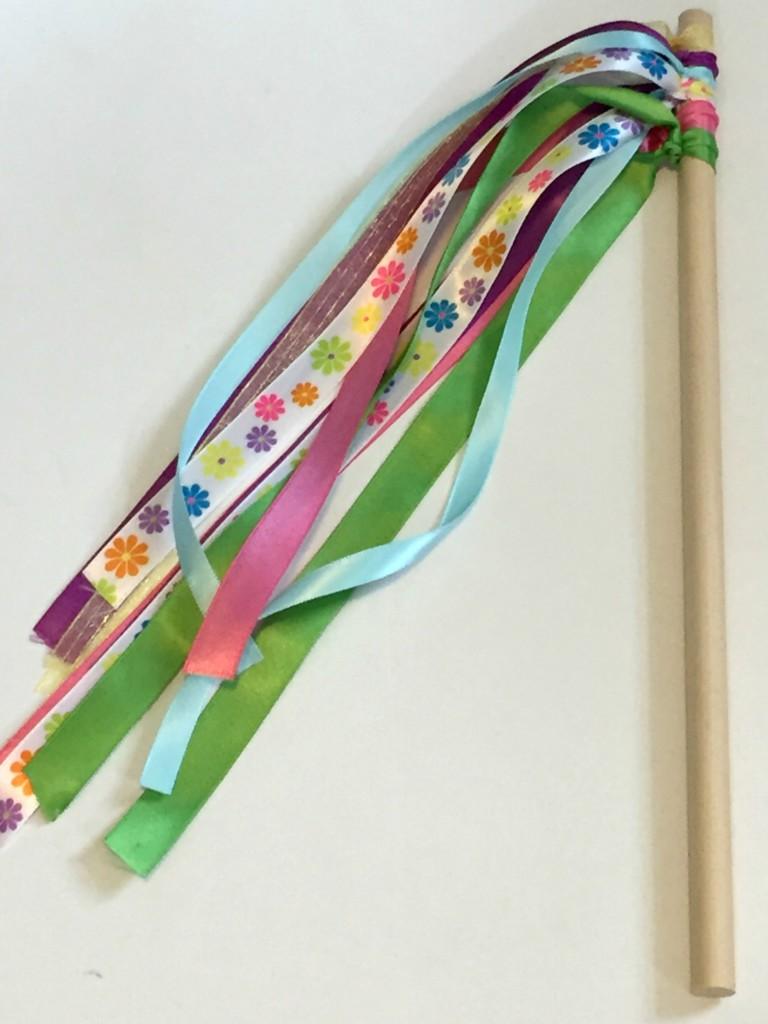 Diy ribbon wand leah with love for Ribbon wands